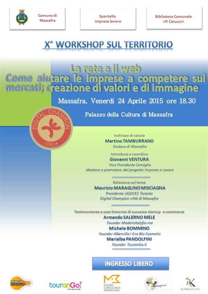 x workshop comune di massafra