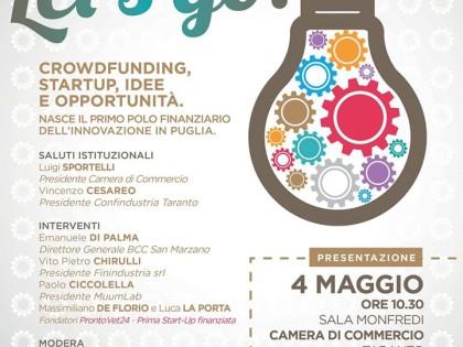 Da Taranto parte  il primo Polo Finanziario dell'Innovazione in Puglia
