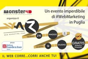 Il Web Marketing Zone arriva a Lecce il 26 maggio e il 9 giugno