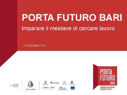 PORTA FUTURO a Bari: spazio di crescita professionale e job placement